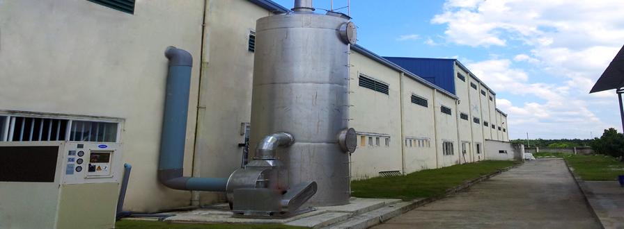 Hệ thống xử lý khí thải Bu Sung Vina