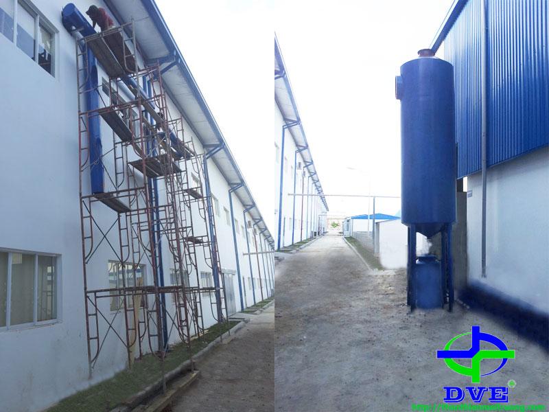 Hệ thống xử lý khí thải pha hóa chất
